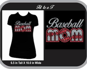 Glitter Baseball Mom T-Shirt