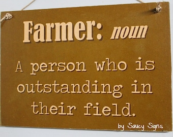 Farmer Noun Country Wooden Shabby Chic Family John Deere Tractor Farm Sign