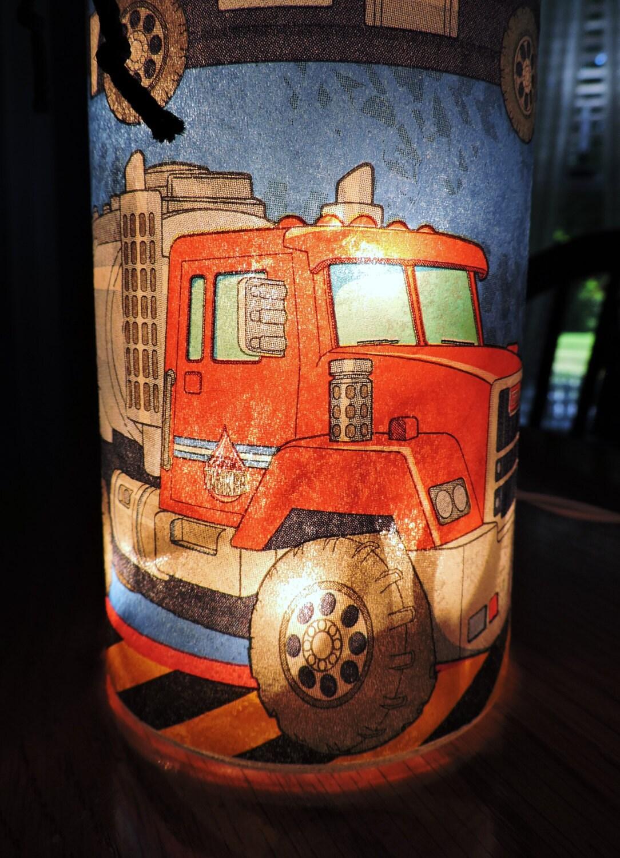 Boy Truck Lamp : Dump truck lamp night light boys by monikasboutique