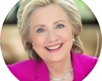 """Hillary Clinton (Pretty in Pink) President 2016 Election 1.25"""" 2.25"""" Pinback Button Pin Magnet Keychain Bottle Opener 825"""