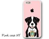 iPhone X/8/8Plus, iPhone 7/7plus, iPhone 6/6S/6plus/6Splus, iPhone 5/5S/5C/SE, iPhone 4/4S - I love Starbucks - Pit Bull - Black & White