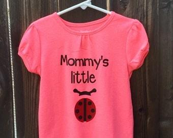 Mommy's Little Lady Bug baby bodysuit/creeper/romper.