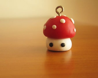 Cernit polymer clay fimo handmade kawaii cute mushroom