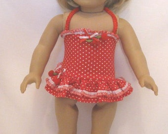 Red Polka Dot Swimsuit for the American Girl doll