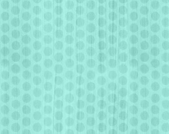 On The Road Again Teal Turquoise Dot cotton fabric
