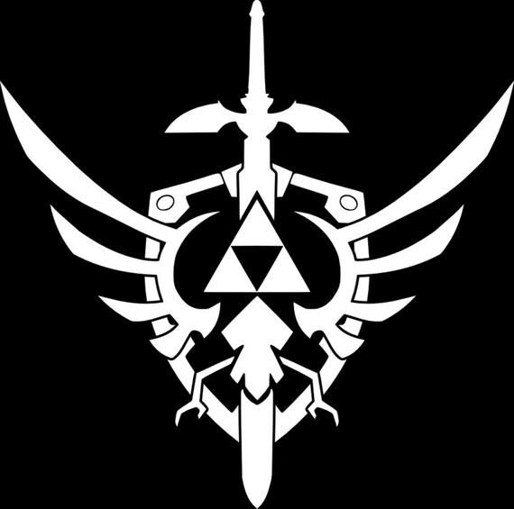 Triforce Shield Legend Of Zelda Sword Sticker Decal Car Truck