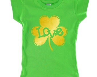 Love Inside Gold Shamrock personalized Green shirt