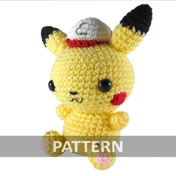 PATTERN Pikachu with Ash Hat Amigurumi Crochet by ...