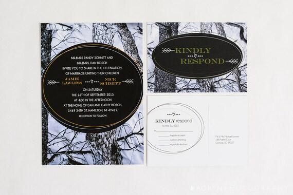 Camouflage Wedding Invitation Kits: Snow Camo Wedding Invitation The Hunt Is Over Invitation