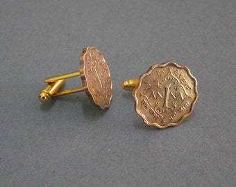 India  1 Anna Coin Cufflinks (CC02/16 - b)