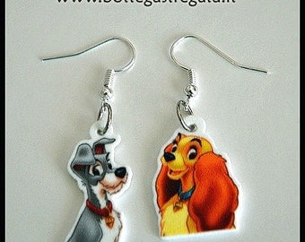 Lady and the tramp earrings-Earrings Lady and the Tramp