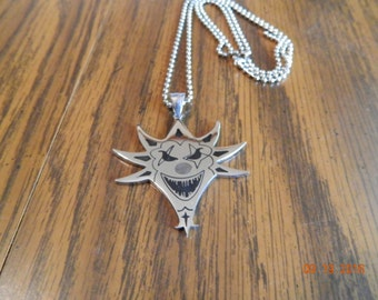 ICP The Mighty Death Pop Polished Stainless Steel pendant with a 30 inch ball chain