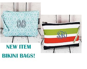 Monogrammed STRIPE Bikini Bag !