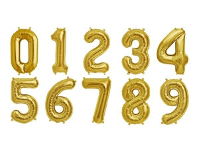 2017 Balloons 14- 16 Inch Gold or Silver Foil Number Balloons   Mylar Balloon   Graduation Balloons