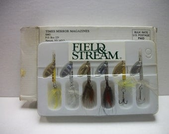 Vintage Fishing Lure set of 6 Lures From Field & Stream with box