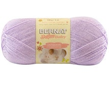 SOFT LILAC Bernat Softee Baby Yarn, Light Purple yarn Bernat Yarn Bernat Baby yarn Light weight dK yarn acrylic yarn Pastel purple baby yarn