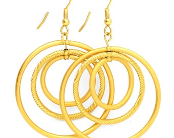 18K Gold Plated Hoop Earrings - MC101615K1AZ