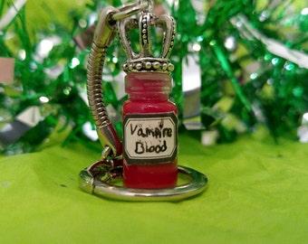 Vampire Blood Stainless Steel Keychain