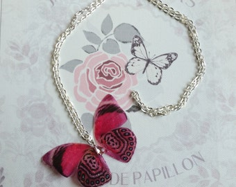 Beautiful Tiger-Pink Butterfly Pendant