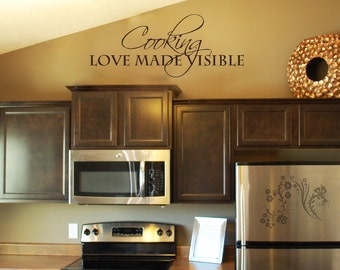 Cooking love made visible - Wall Decals - Wall Decal - Wall Vinyl - Wall Decor - Decal - Kitchen Wall Decal
