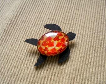 Brooch, sea turtle (1861)
