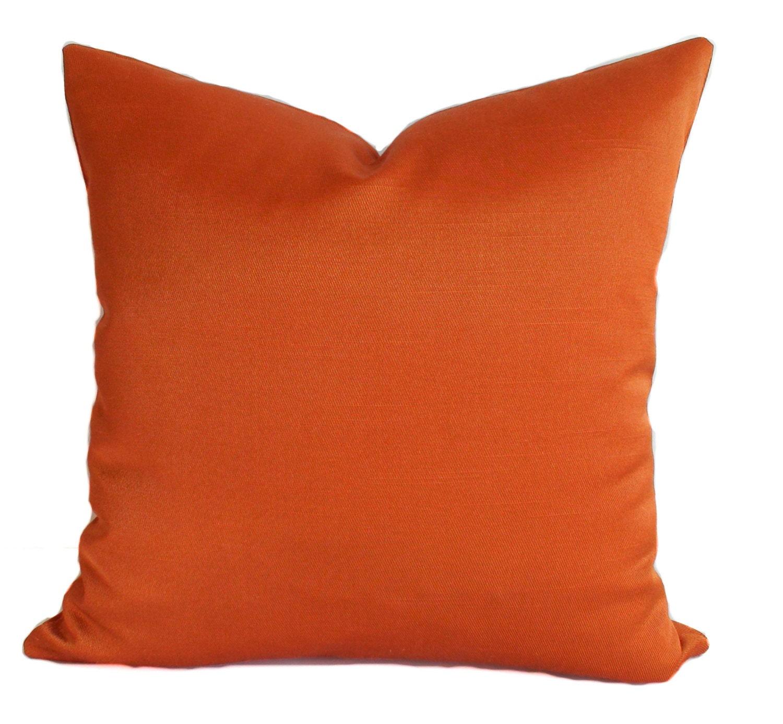 Decorative Pillow Cover 12x16 : Orange pillow cover 12x16 Lumbar pillow Throw pillow