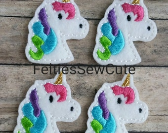 Unicorn Feltie multi-color