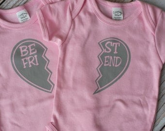 Best Friends Valentines Day Bodysuit for babies or shirts for toddlers