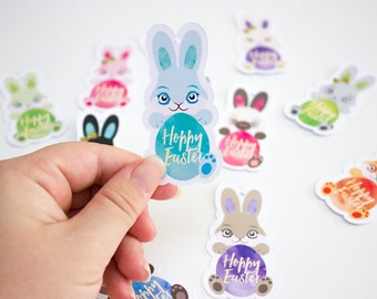 Printable Easter Bunny Gift Tags / INSTANT DOWNLOAD - by Kooee Papercraft