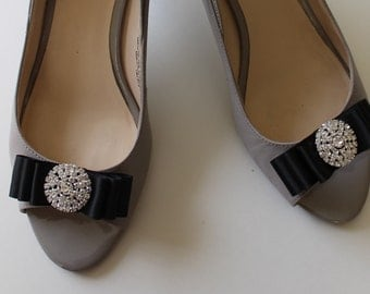 Shoe Clips Wedding Shoe Clips Bridal Shoe Clips Shoe Clips Bows Shoe Clips Black Clips for Wedding Shoes