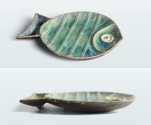 Sea World Porcelain Wall Decor Fish Plate
