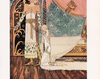 Norwegian folk tale fairy tale Kay Nielsen vintage art nouveau print illustration  East of the Sun, West of the Moon  8.5x11.5 inches