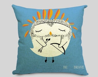 Be Brave Owl - Pillow Cover