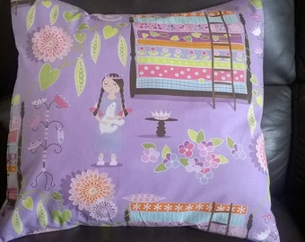"Princess And The Pea Fairy Tale cushion/ pillow cover 16 "" × 16 "" design by Michael Millar"