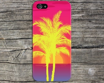 Neon Palm Trees x Island Sunset Phone Case, iPhone 7, iPhone 7 Plus, Tough iPhone Case, Galaxy s8, Samsung Galaxy Case Note 5 CASE ESCAPE
