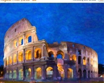 SALE - Ships Aug 27 - Rome Colosseum Print - Italy Decor - Roman Colosseum - Wall Art Home Decor Fine Art Print #vi244