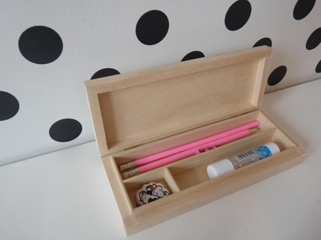 Wooden Pencil Case Old School Equipment Retro Pencil Case