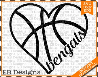 Bengals Basketball SVG DXF EPS Cutting Machine Files Silhouette Cameo Cricut Basketball Vinyl Cut File Basketball Vector svg file