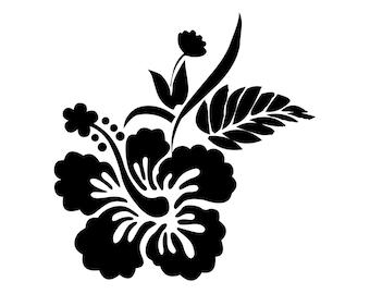 Stickers voiture fleurs hibiscus - Voiture tortue ...