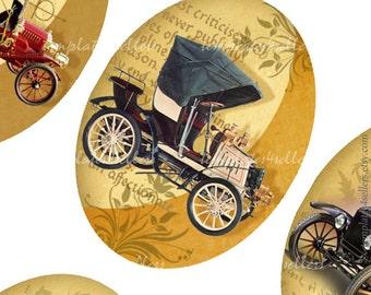 Digital Collage Sheet  Vintage Cars 30x40 mm images Scrapbooking Pendants Printable Original  Printable 4x6 inch sheet 262