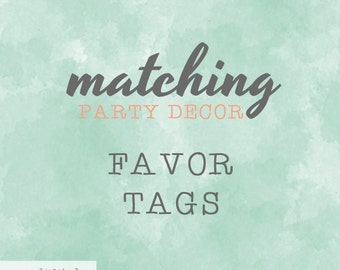 Matching Thank You Favor Tags / To Match Our Invitation Design / Party Printables