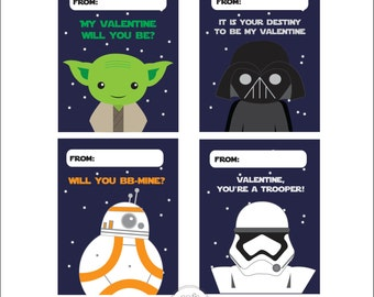 Star War Valentine S Etsy