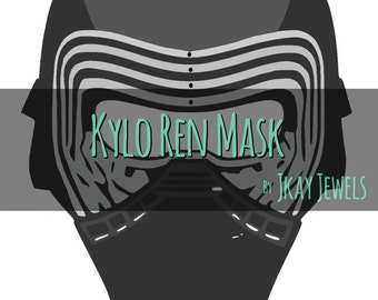 Kylo Ren Photobooth Mask Star Wars Silhouette SVG File For Die Cut Vinyl Machines and Crafts