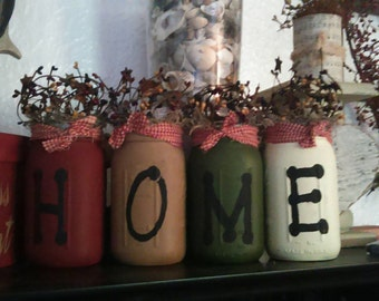 Home mason jar shelf sitters