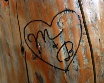 Custom Engraved Stump Table