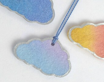 Cloud with a Silver Lining longline statement Necklace in Blue/Purple