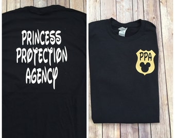 Princess Protection Agency Shirt with Mickey Badge, perfect for Disney