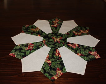 Butterflies - Table Decoration - Winter - Christmas - Holiday - Dresden Round Table Runner - Reversible - Ships Fast!