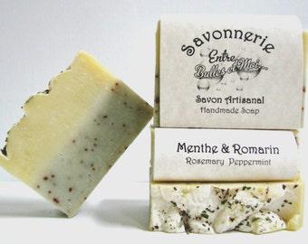 Rosemary Peppermint Handmade soap ( essential oil)