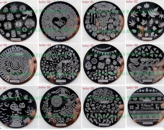 Nail art stamping plate metal cute lots of choices hehe design beautiful